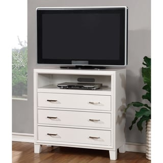 Furniture of America Sunjan White 3-Drawer Media Chest