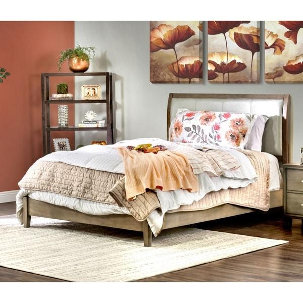 Furniture of America Malt Contemporary Grey Tufted Platform Bed