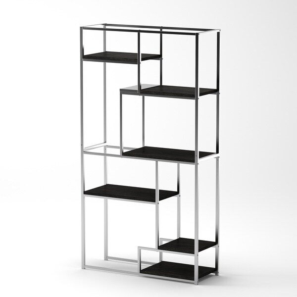 furniture of america nara 6shelf tiered open bookcase free shipping today