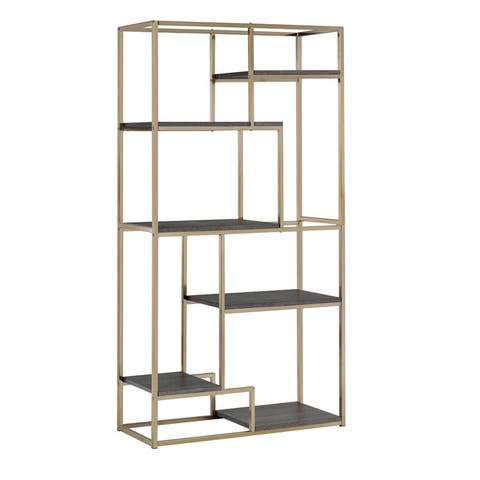Silver Orchid Viby 6-shelf Tiered Open Bookcase
