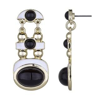 Black & White Modern Dangle Earrings