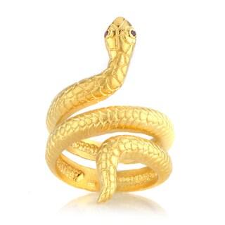 Brass Goldtone Snake Ring
