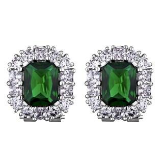 Green Cubic Zirconia Estate-style Earrings