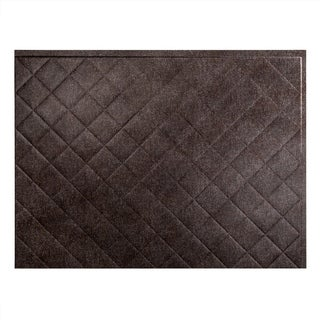 Fasade Quilted Smoked Pewter 18-inch x 24-inch Backsplash Panel