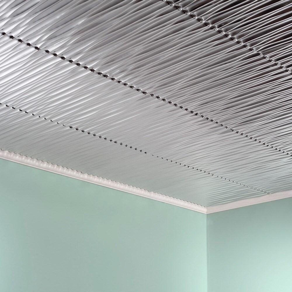 Fasade Dunes Vertical Brushed Aluminum 2 Feet X Glue