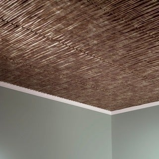 Fasade Dunes Vertical Bermuda Bronze 2-feet x 2-feet Glue-up Ceiling Tile