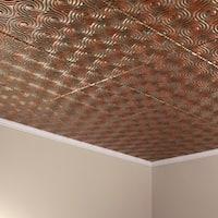 Fasade Cyclone Copper Fantasy 2-feet x 2-feet Glue-up Ceiling Tile