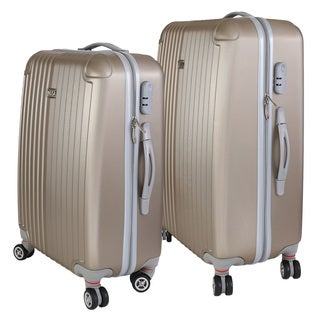 InUSA Los Angeles Collection 2-Piece Lightweight Hardside Spinner Luggage Set