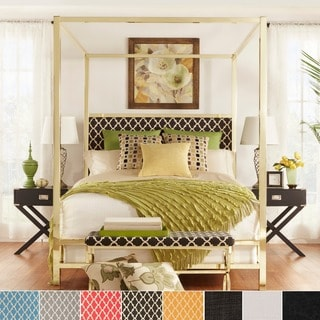 Solivita King-size Canopy Gold Metal Poster Bed by iNSPIRE Q Bold