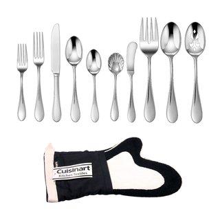 """Cuisinart """"Irais"""" 45-Piece Flatware Set (2-Pack) Bundle with Oven Mitt"""