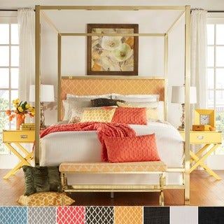 Solivita Full-sized Canopy Gold Metal Poster Bed by iNSPIRE Q Bold