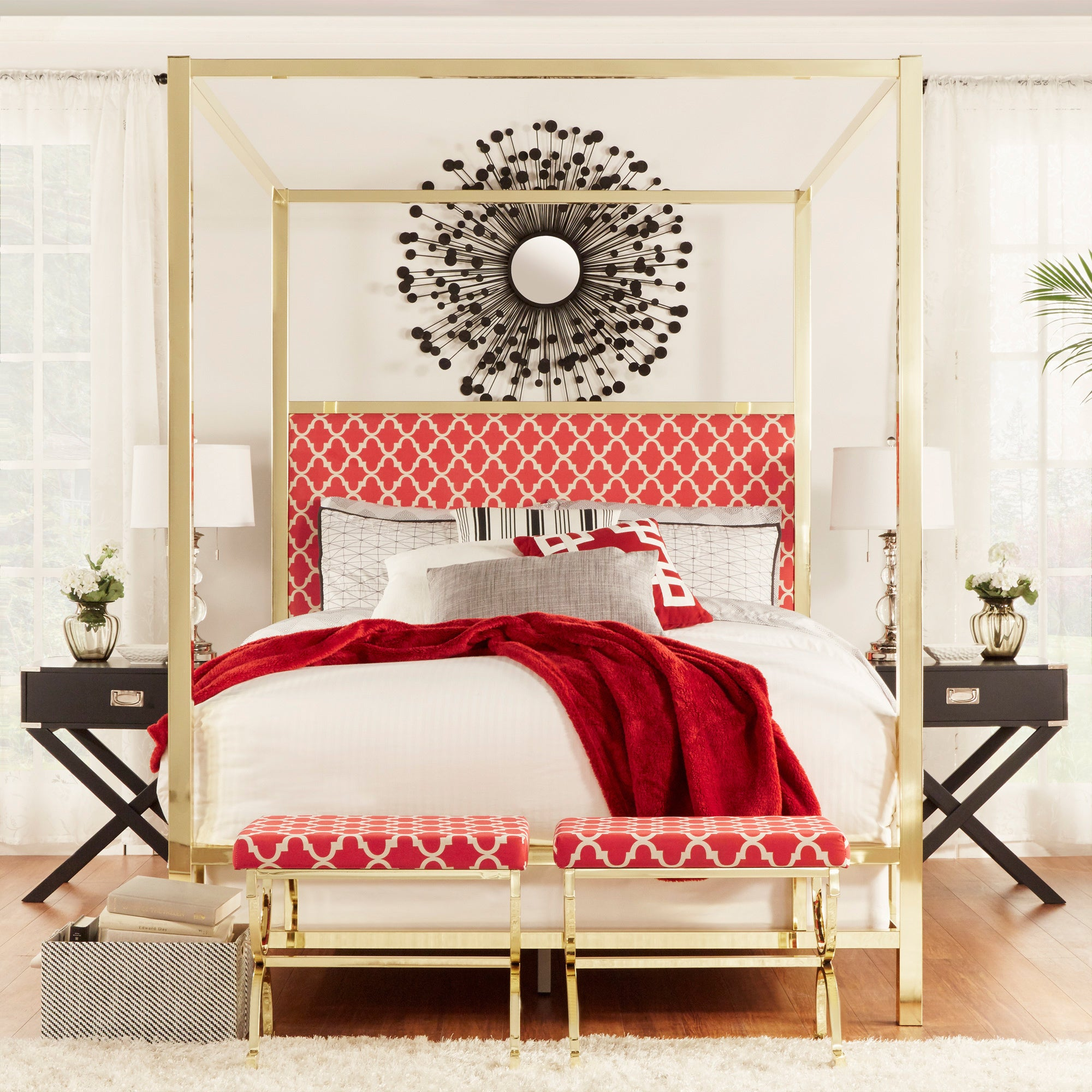 Solivita-Full-sized-Canopy-Gold-Metal-Poster-Bed-