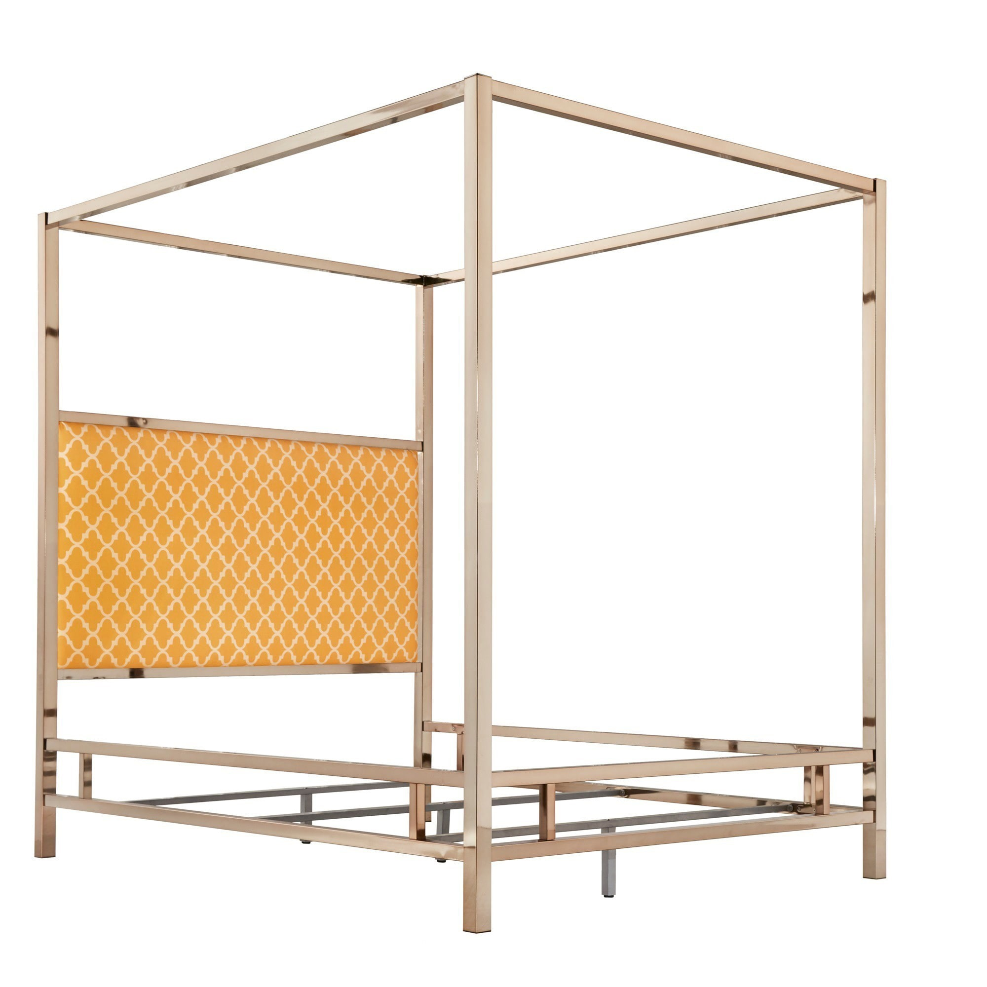 Solivita-Ch&agne-Gold-Queen-size-Metal-Canopy-Bed-  sc 1 st  eBay & Solivita Champagne Gold Queen-size Metal Canopy Bed by iNSPIRE Q ...