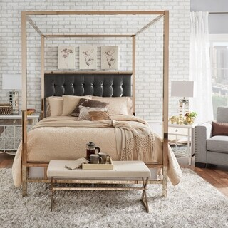 Solivita Champagne Gold Full Size Metal Poster Bed By INSPIRE Q Bold (More  Options Available
