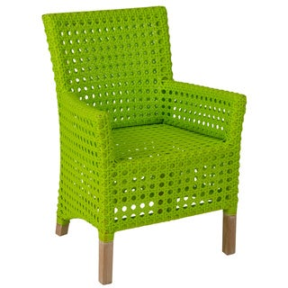Decorative Modern Green Woven Rattan Indoor/Outdoor Chair