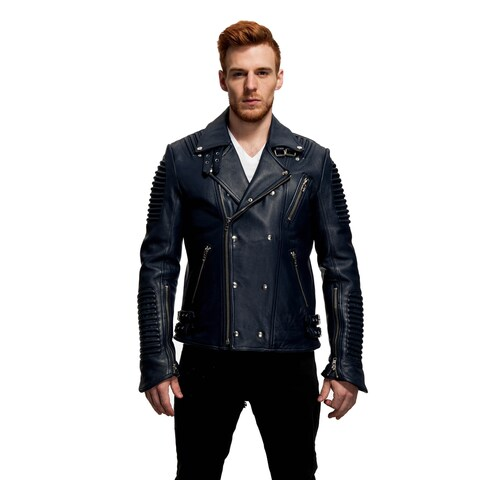 Mason & Cooper Men's The Empire Leather Moto Jacket