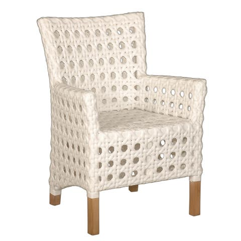 East At Main's Decorative Sacramento White Modern Indoor/Outdoor Chair