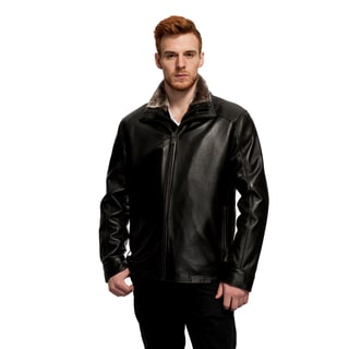 Mason & Cooper Sage Faux Fur Collared Leather Jacket