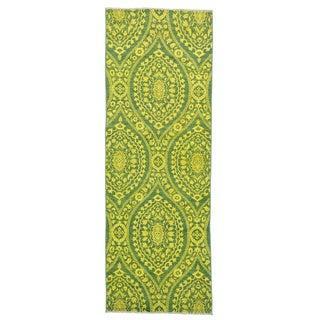 Wide Runner Handmade Overdyed Peshawar Oriental Rug (4'1 x 11'8)