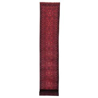 XL Runner Fine Afghan Khamyab Hand Knotted Oriental Rug (2'8 x 19'10)