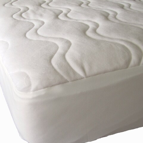 40-Winks Omni Plush Quilted Organic Cotton Mattress Pad Cover