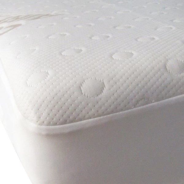 40-Winks Airfow Moisture Wick Mattress Pad Protector - White