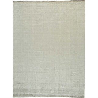 Tone on Tone Hand Loomed Modern Rayon from Bamboo Silk Oriental Rug (8'8 x 11'8)
