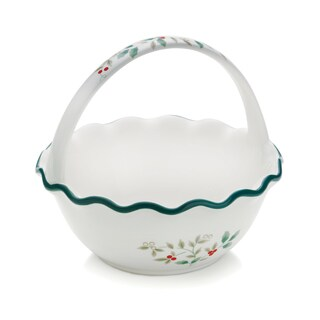 Pfaltzgraff Winterberry Handled Ruffled Bowl