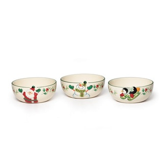 Pfaltzgraff Winterberry Figural Fruit Bowls (Set of 3)