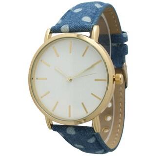 Olivia Pratt Women's Denim Polka Dot Watch (3 options available)