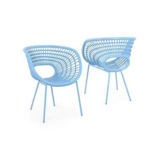 Decorative Sleek Blue Modern Indoor/ Outdoor Chair
