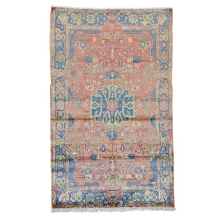 Persian Nahavand 100 Percent Wool Hand Knotted Oriental Rug (5' x 8'1)