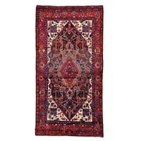 Persian Nahavand Gallery Size Hand Knotted Oriental Rug - 5'2 x 9'10