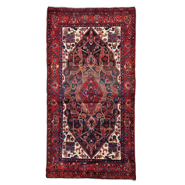Persian Nahavand Gallery Size Hand Knotted Oriental Rug (5'2 x 9'10)