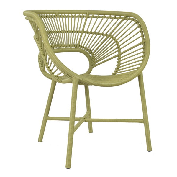 East At Mainu0026#x27;s Decorative Sleek Green Modern Indoor/ Outdoor Chair