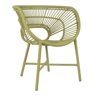 Decorative Sleek Green Modern Indoor/ Outdoor Chair