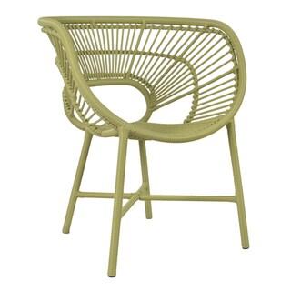 Decorative Sleek Green Modern Indoor/ Outdoor Chair