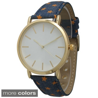 Olivia Pratt Women's Denim Star Watch