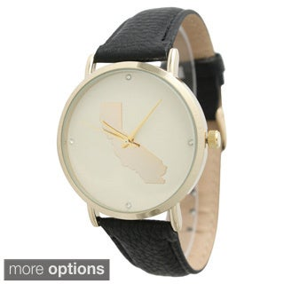 Olivia Pratt Women's Classic State Leather Strap Watch
