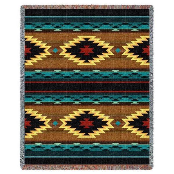 Southwestern Throw Blanket Mesmerizing Shop Southwest Geometric Turquoise Tapestry Throw Blanket 60 X 60