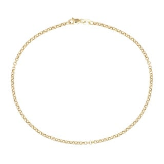 Pori 10k Yellow Gold Italian Rolo Chain Anklet