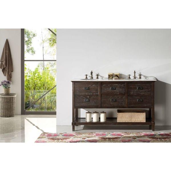 Shop legion furniture 60 inch solid wood sink vanity with - 60 inch unfinished bathroom vanity ...