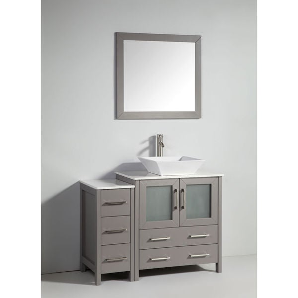 Legion furniture 30 inch light grey solid wood single sink for Legion furniture 30 inch bathroom vanity