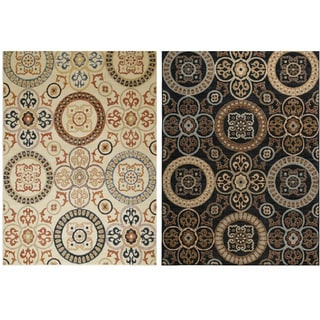 Rizzy Home Carrington Collection Power-Loomed Accent Rug (6'7 x 9'6)