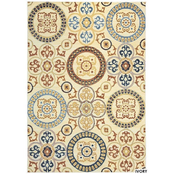 Rizzy Home Carrington Collection Power-Loomed Accent Rug (6'7 x 9'6) - 6'7 x 9'6
