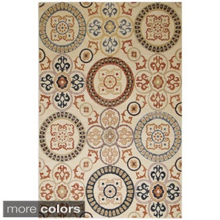 Rizzy Home Carrington Collection Power-Loomed Accent Rug (5'3 x 7'7)