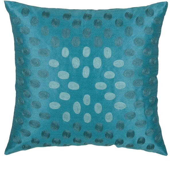 Shop Rizzy Home Embroidered Ombre 18 Inch Accent Pillow