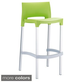 Gio Indoor/Outdoor Stacking Barstool (Set of 4)