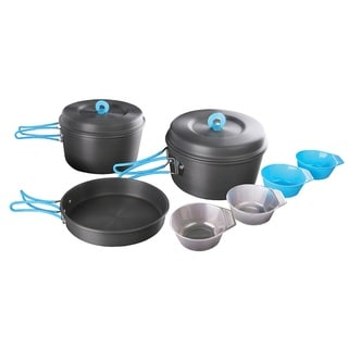 Stansport 10-piece 4-person Hard-anodized Aluminum Cook Set