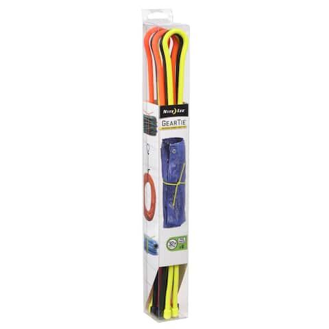 Nite Ize Gear Tie 32 in. L Black, Bright Orange, Neon Yellow Twist Ties 6 pk